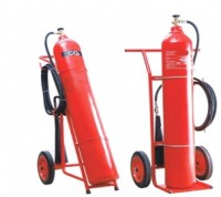 Fire-Extinguisher-of-CO2-6-Trolley Mounted wheeled fire extinguishers