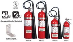 water type fire extinguisher -co2